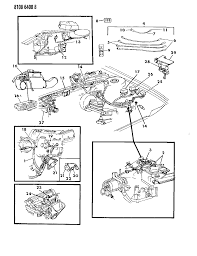 1988 chrysler town country wiring engine front end related parts diagram