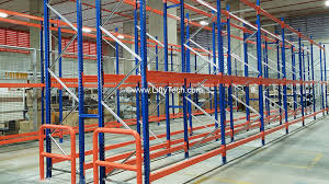 pallet racking system in a warehouse