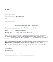 Application For Teaching Job How To Write Application Letter For Teaching Job In School Top