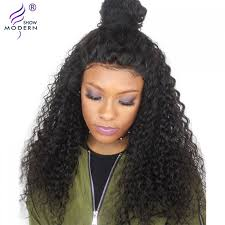 modern show hair short msian curly lace front human hair wigs for black women