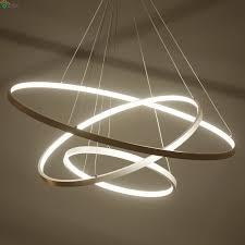 nordic diy aluminum ring led pendant chandelier lighting re regarding lights prepare 15