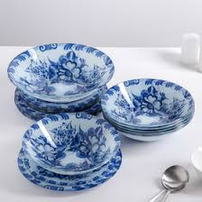 "<b>Набор тарелок</b> ""Синева"", 19 предметов: салатник, десертная ..."