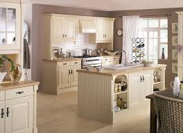 traditional kitchens cream units with island sink