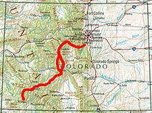 Colorado Mileage Chart Colorado Trail Wikipedia