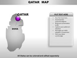 Qatar Country Powerpoint Maps Powerpoint Templates