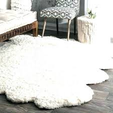 faux fur area rug large