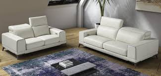 modern white sofa set. Fine White Estro Salotti Bolton Italian Modern White U0026 Blue Leather Sofa Set For