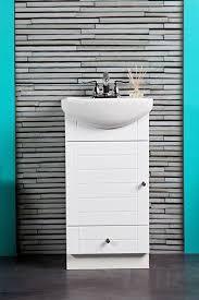 SMALL BATHROOM VANITY CABINET AND SINK WHITE - PE1612W NEW PETITE VANITY