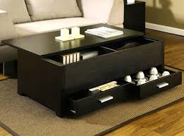 small black coffee table for living room furniture