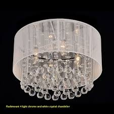 flushmount 4 light chrome and white crystal chandelier 124 best lighting images on