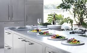 Frigo Design Metal Countertop Sleek And Sumptuous Stainless Steel Kitchen By Abimis