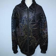 details about amazing pelle pelle marc buchanan leather jacket america usa statue liberty 56