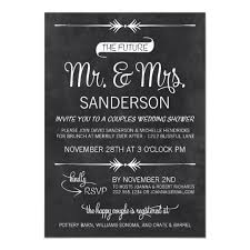 Couple Wedding Shower Invitations Chalkboard Couples Wedding Shower Invitation