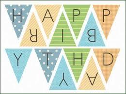 Birthday Banner Printable Happy Birthday Banner Printable Template Happy Birthday
