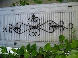 image of stylish wrought iron outdoor wall decor