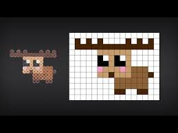Cute Perler Bead Patterns Delectable How To Make A Cute Perler Bead Moose YouTube
