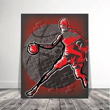 basketball art wall art large canvas