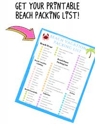 Vacation Checklist The No Stress Beach Vacation Packing List For Couples