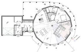 plan maison ronde