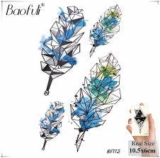 завод круглый оливковая ветвь временные татуировки стикеры женского тела арт
