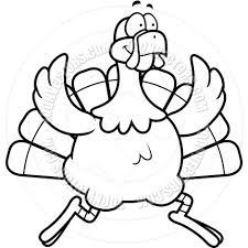 running turkey clipart black and white. Running Turkey Clipart Black And White In