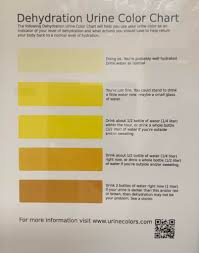 Hydration Color Chart Urine Hydration Chart Coolguides