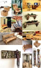 image creative rustic furniture. Wonderful Rustic Creative Rustic Wood Logs Furniture Ideas Intended Image S