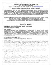 Senior Financial Analyst Resume Resume For Your Job Application