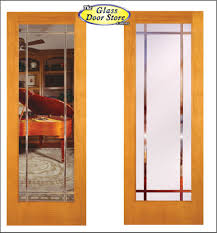interior clear glass door. Clear Or Frosted Options In Interior Glass Doors. V Grooved Shown Pine Stainable Door