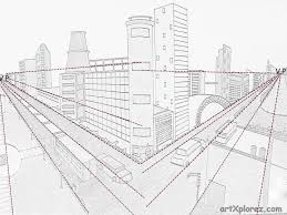 perspective drawings of buildings. Delighful Buildings Two Point Perspective Example Intended Perspective Drawings Of Buildings B