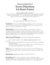 Science Report Format Science Fair Procedure Template Testing Free Templates