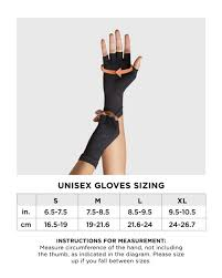 Copper Fit Gloves Size Chart Womens Core Compression Half Finger Gloves