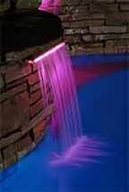 pool waterfall lighting. Fiber Optic Waterfall Linear Pool And Step Lighting E