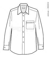 Yシャツ ワイシャツ 洋服のイラスト素材 2860632 Pixta
