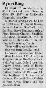 Myrna Jo Endriss-Brown-Barker-King -- Death and Funeral Service Notice -  Newspapers.com