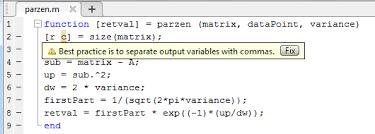 size of matrix matlab parzen window density estimation in matlab code review stack exchange