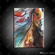 2018 hand painted colored chinese famous horse painging wall art decorations drop ship running horse oil painting on canvas from ouweili 6 36 dhgate com