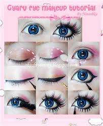 today we are sharing with you some quick gyaru makeup tutorials eyes being the noted part in gyaru style