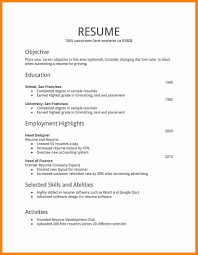 cv format buyer resume example of a simple cv