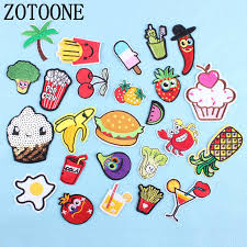 <b>ZOTOONE</b> 1pc Optional Food Fruit Patches Clothing <b>Iron</b> ...