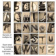 american wall art gun letter