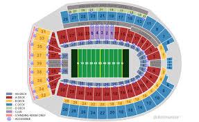 Horseshoe Seating Chart Ohio Stadium Seating Map Map Chococard
