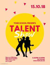 School Talent Show Flyer Template Talent Show Flyers Template Free