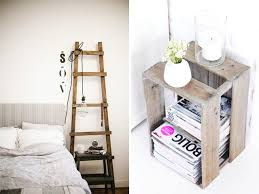 Personally, I'm loving the idea of a ladder as a bedside table, a bit of a  balancing act required but oh so space efficient (yay!)