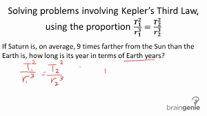physics solving problems involving kepler s third law physics 3 2 2 1 solving problems involving kepler s third law using the proportion