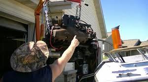 1987 larson cuddy cruiser boat restoration inboard engine removal part 4 you