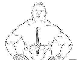Small Picture wwe brock lesnar coloring page Coloring pages Printable