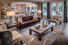 be sure your rug is big enough to form a comfortable conversation area with your furniture