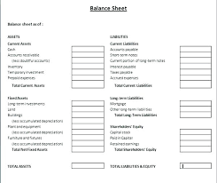 Free Balance Sheet E Business Es Download Accounting Form Forms