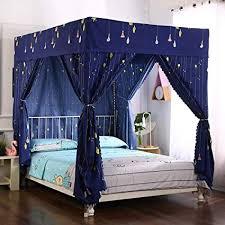 Amazon.com: Mengersi Four Corner Post Bed Curtain Canopy Mosquito ...
